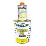 Kit Fundo Primer PU Cinza 800ml + Endurecedor 100ml HS SUPER Alto Sólidos - Brazilian