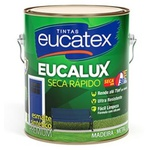 Esmalte Sintético Standard Preto Fosco Eucatex 3,6L