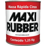 Massa Rápida Cinza - 1,250kg - Maxi Rubber