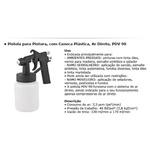 Pistola para Pintura com Caneca Plástica Ar Direto Pdv 90 - Vonder