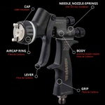 Pistola Pintura Genesi Carbonio HTE Base Clear Bico 1.3mm Walcom Ref: 973013