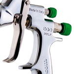 Pistola de Pintura HVLP Ego 1.0mm 180ml com Estojo e Manômetro WALCOM Ref: 1002310