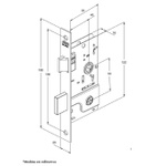Fechadura Inox 800/21 Chave Tetra Roseta Quadrada Externa-Stam