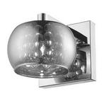 Arandela Soho Metal/Vidro 16x12cm 1xg9 Cobre/Transparente-Bella Iluminação