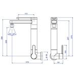 Torneira Para Cozinha De Parede Com Filtro 1148 Twin Cromada-Deca