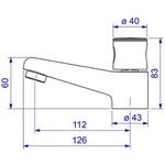Torneira Para Banheiro De Mesa 1198 C35 Aspen Cromada-Deca