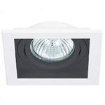 Spot Embutir Quadrado Conecta 1xpar20 Branco/Preto-Bella Iluminação