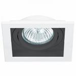 Spot Embutir Quadrado Conecta 1xar70 Branco/Preto-Bella Iluminação