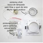 Spot Embutir Quadrado Conecta Para Lâmpada Mini Dicroica Branco NS7351B-Bella