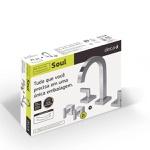 Kit Misturador para Banheiro de Mesa e Acabamento Registro Gaveta 1877 C38.Kit2 Soul Cromado-Deca