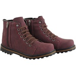 Coturno casual masculino CRshoes bordo