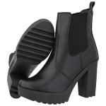 Coturno Feminino Tratorado Crshoes Pelice Preto Com Elástico
