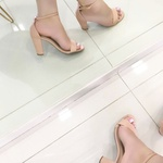 Sandalia Via Marte Salto Grosso Nude Modelo Gisele