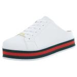 Mule Maresias Soft Plataforma CRShoes |Branco solado Vermelho
