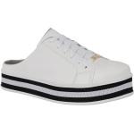 Mule Maresias Soft Plataforma CRShoes |Branco solado Preto