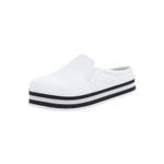 Mule Maresias Plataforma CRShoes - Branco solado Preto e Branco