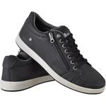 Sapatenis masculino casual CRshoes com ziper preto 12 pares