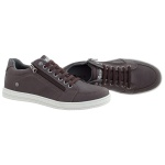 Sapatenis masculino casual CRshoes com ziper cafe