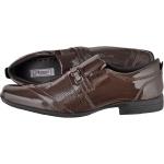 Sapato masculino social CRshoes verniz marsala com brinde carteira