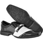 Sapato masculino social CRshoes verniz preto branco com brinde carteira