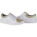 Tênis Feminino CRShoes - Branco e Ouro