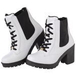 Coturno feminino tratorado CR Shoes verniz Branco