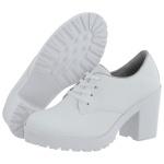 Oxford feminino tratorado CRshoes Branco Fosco