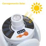 Lanterna Dobrável LED 4 folhas Redonda - Carregamento USB e Solar Controle Remoto