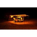 Kit de Iluminação com 6 Barras de Led Branco/Amarelo para Camping