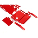 Kit De 8 Proteções Inferiores Para Novo Troller 2015 Em Diante - Vermelho