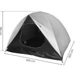 Barraca Camping Dandaro Iglu Max-2 até 7 Pessoas