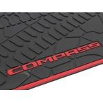 Tapete Borracha Jeep Compass Borda Vermelha