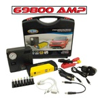 Auxiliar De Partida 12v Chupeta Bateria C/power Bank Compressor 69800 Amp