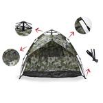Barraca De Camping Iglu Automática Camuflada Até 3 Pessoas