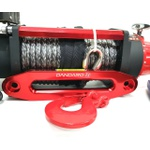 Guia Para Cabo Sintético Kevlar Em Aluminio Para Guincho De 8000 a 16000 Libras Vermelho