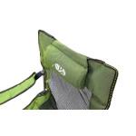 Poltrona Dobrável Reforçada P/ Camping Capacidade 148 Kg Master Com Travesseiro Encosto