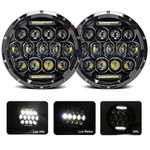 Farol Angel Eyes 7 Polegadas- 75w Cree Led