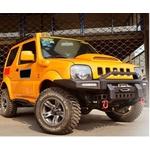 Para Choque Em Aço Com Base Para Guincho Suzuki Jimny Modelo Extreme