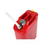 Galão De 20 Litros Combustivel Metal Modelo Europeu 0,9mm Com Bico - Tampa Rosqueada Vermelho