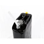 Galão De 20 Litros Combustivel Metal Modelo Europeu 0,9mm Com Bico - Tampa Rosqueada Preto