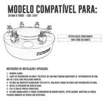 Alargador / Espaçador De Roda 38,1mm 6x139,7 Com Centralizador Toyota Hilux e Sw4 2006/diante - Unidade