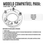 Kit 4 Espaçadores De Roda Suzuki Jimny 38,1mm 5x139,7