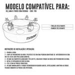 Alargador / Espaçador De Roda 38,1mm 6 Furos Troller 2015/ Ranger 2013 - 6x139,7