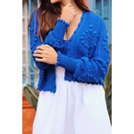 Cropped e casaco ilhabela azul blessed