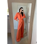 Blusa alfaiataria laranja vida bela