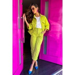 Calça sarja verde vida bela