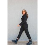 Macacão utilitario preta Alcance jeans