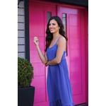 Vestido mide azul vida bela