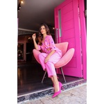 Calça alfaiataria rosa vida bela