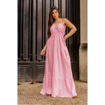 Vestido longo decote Rosa Vida Bela